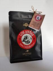 Kolumbijská káva LOS ANDES 250 g pražená zrnka 100% Arabica GOURMET-Vynikající čerstvá černá káva LOS ANDES  100% Arabica Single-Origin San Agustin,Huila, Kolumbie