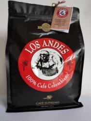 Kolumbijská káva LOS ANDES 1 kg pražená zrnka  100% Arabica GOURMET-Vynikající čerstvá černá káva LOS ANDES  100% Arabica Single-Origin San Agustin,Huila, Kolumbie