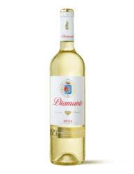 Rioja Diamante 2015  Viura a Malvasía bílé DOCa Rioja lahev 0,75l-polosladké 12% Vol.  8-10 °C  přírodní svěžest z odrůd Viura a Malvasía-2015 bílé zlatožlutá s bledými odstíny, Diamond má plný bouqete, je kyticí zralého ovoce a květin podpořenou chutí sladkého moštu.